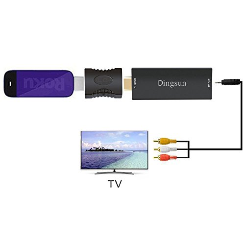 HDMI to AV Adapter, HDMI to Composite AV Converter for Fire TV Stick, HDMI to RCA Converter for Amazon Fire Stick, HDMI to 3RCA Composite Supporting PAL/NTSC, 1080P (HDMI to RCA) by Dingsun (Image #4)