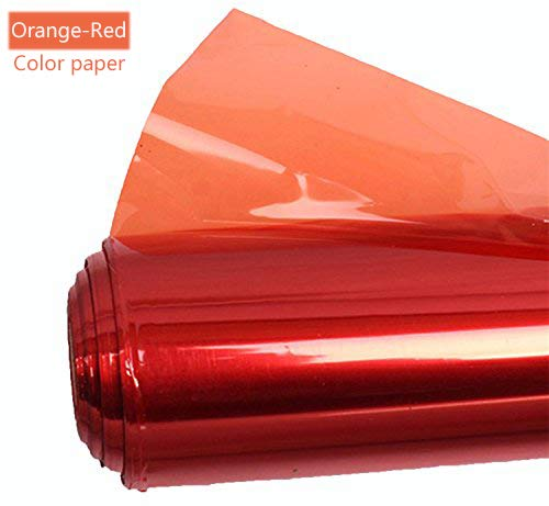 Meking Professional 16x20 Inch Gels Color Filter Paper Correction Gel Lighting Filter for Photo Studio Light Red Head Light Strobe Flashlight - Light Red