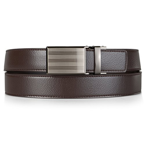 Daxx Mens Adjustable Topstitched Genuine Leather Ratchet Belt - Daxx Leather