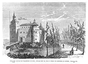 Grabado antiguo (1861) - Xilografía - Villaviciosa De Odón.- Vista Del Castillo, Ocupado Por El Colegio De Ingenieros De Montes (14x21), Desconocido