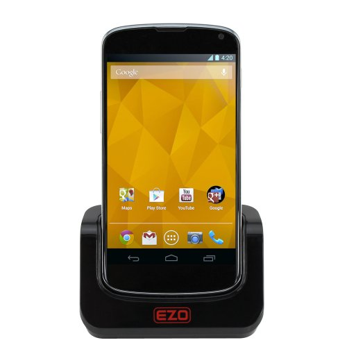 EZOPower Sync Transfer USB Cradle Desktop Charger Dock with Detachable Case Plate for LG Google Nexus 4 E960 SmartPhone
