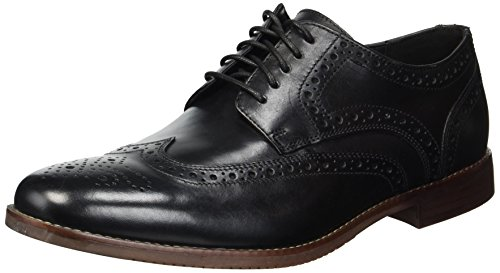 Rockport Men's Derby Room Wingtip Shoe, black, 9.5 W US