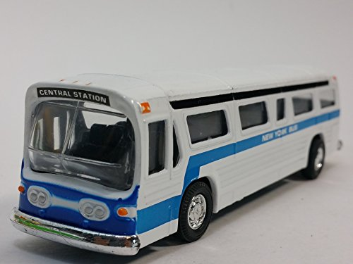 Classic New York City Central Station White Passenger Bus 6