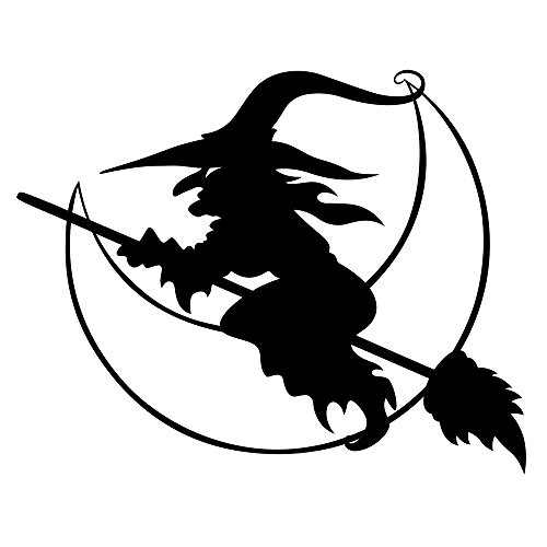 Pulusi Halloween Witch Car Stickers Bumper Stickers Decal,Black -