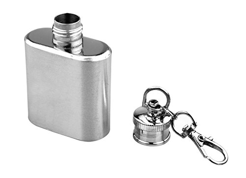 SE HQ148-1 1 oz. Stainless Steel Keychain Flask