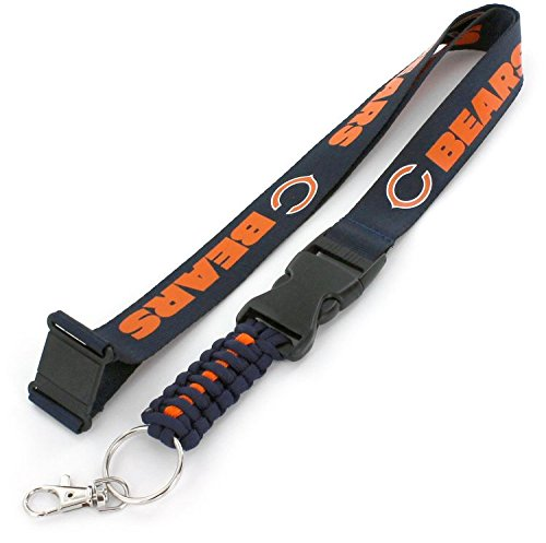 aminco NFL Chicago Bears Paracord Keychain Lanyard, Blue