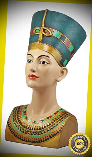 KARPP Large Ancient Egyptian Queen Nefertiti Bust Statue 18''H Classical Egypt Decor Perfect Indoor Collectible Figurines