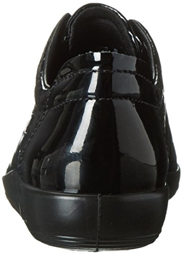 Ecco Soft 2.0, Zapatos de Cordones Derby para Mujer Negro (BLACK51052)