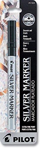 (Pilot 41600 Silver Metallic Extra Fine Point Marker Pen)