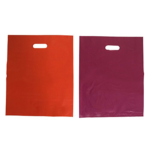 110-recyclable-plastic-shopping-bags-by-the-lakshmi-company-12-x-15-in-pink-purple-grocery-plastic-b