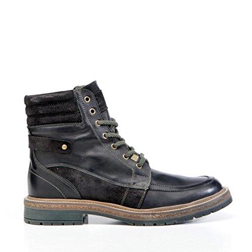 Boots für Herren SLOWWALK 10024 RUSSELL BLACK-VERDE