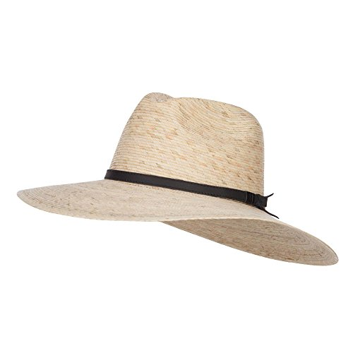 Braid Xl Brim Hat - Jeanne Simmons Men's Palm Braid Safari Hat - Lt Palm XL