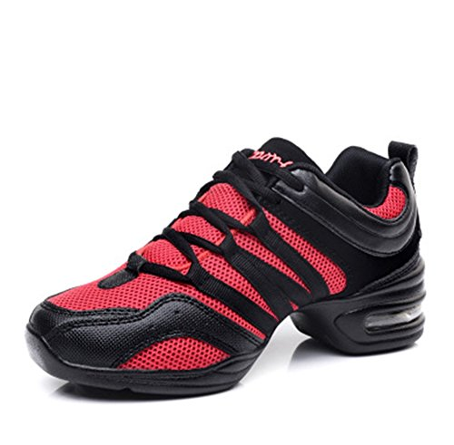 Dance Fitness XW 41 Zapatos suave Mujer Shoes de Cuadrados baile 34 Heightening de deporte de red Shoes Moderno baile WX Zapatos Base xxfRaT