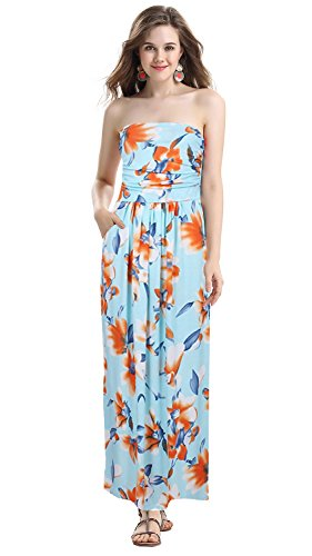 2017 Vintage Floral Print Boho Maxi Dress Plus Size - 2