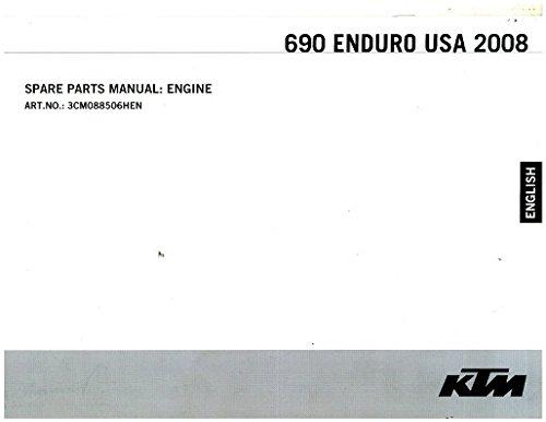 (3CM088506HEN 2008 KTM 690 Enduro USA Engine Spare Parts Manual)