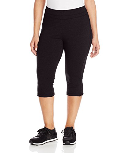 Spalding Women's Plus-Size Straight Leg Crop Pant, Black, (Lycra Straight Leg Pants)