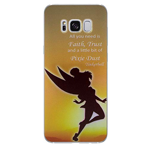 Galaxy S8 Peter Pan Silicone Phone Case/Gel Cover for Samsung Galaxy S 8 (S8/G950)/Screen Protector & Cloth/iCHOOSE/Pixie -