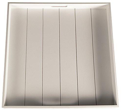 2 Farben XXL Tablett Holztablett Kerzentablett Holz Shabby Chic Landhaus groß (Weiß)