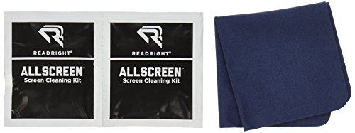 Read Right Screen Cleaning Kit, 50 Wet Wipes and 6'' x 6'' Microfiber Cleaning Cloth (RR15039) by Read Right