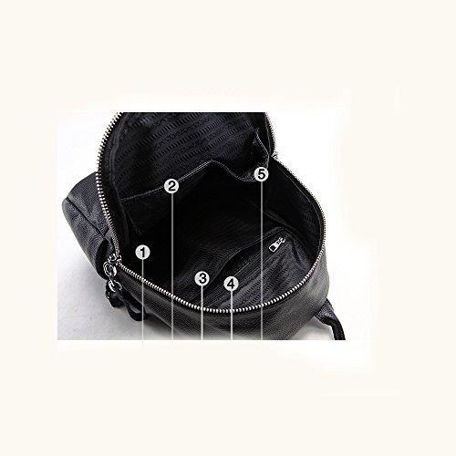 Black Simple Nouvelle Mode En Cuir à Décontractée à Dos YXLONG Femme En Souple Bandoulière Cuir Sac Sauvage Marée Sac De à Main 2018 Cuir Sac x8ppSgFq