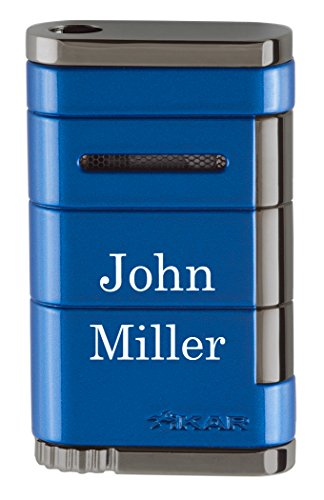 (Personalized Xikar Allume Reef Blue Torch Lighter with Free Laser Engraving)