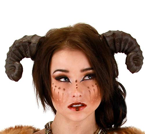 Brown Dragon Satyr Costume Horns Headband For Adults -elope]()