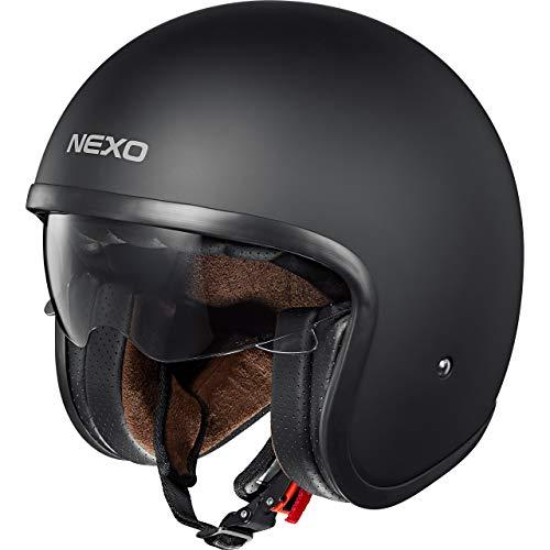 Nexo Jethelm Motorradhelm Helm Motorrad Mopedhelm Urban Style, Ratschenverschluss, herausnehm-, waschbare Wangenpolster…