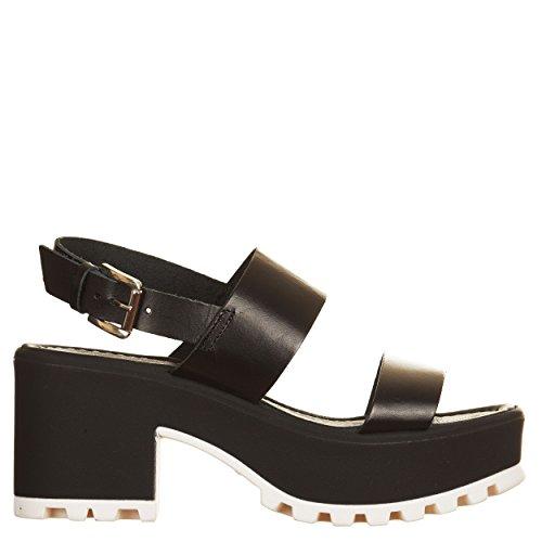 VialeScarpe Sas-1034vtne_35 - Sandalias de vestir de Piel para mujer negro negro 35 negro