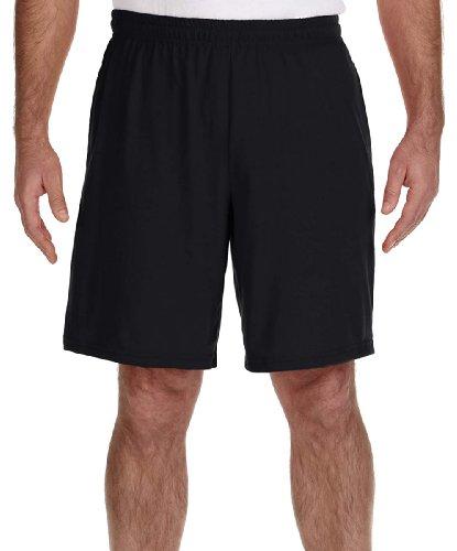 gildan-performance-55-oz-nine-inch-short-with-pocket-small-black