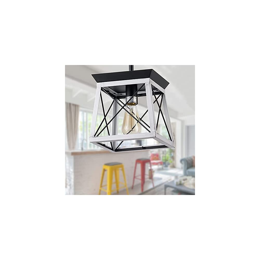 XIPUDA Farmhouse Pendant Light Fixture, Kitchen Island Lighting Ceiling Mount Chandelier, Hanging Light Fixture for…