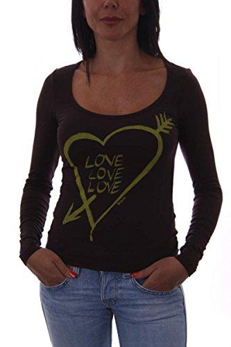 Shield & Couture - Camiseta de manga larga - para mujer marrón