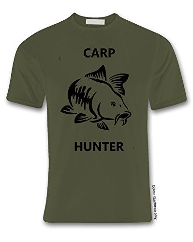 360 de cuello militar verde Camiseta hombre para redondo Pesca PwCqw