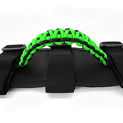 Jade Onlines Grab Handles for Jeep Wrangler YJ TJ JK JL & Gladiator JT 1987-2020, Car UTV ATV Roll Bar Grip Handle Interior Accessories (Pack of 2) (Green): Automotive