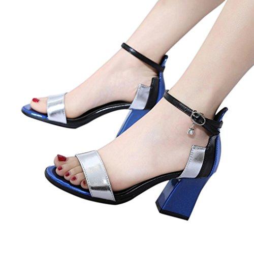 SANFASHION Blau Damen Donna SANFASHION Schiava Schuhe Bekleidung Alla 144155 zR5qfxw