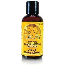 Okay Haitian Castor Oil, Black, 4 Ounce