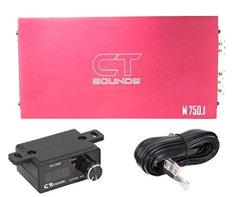 CT Sounds 750.1D amp Amplifier 750w RMS / 1500w MAX Class D Channel - Titanium