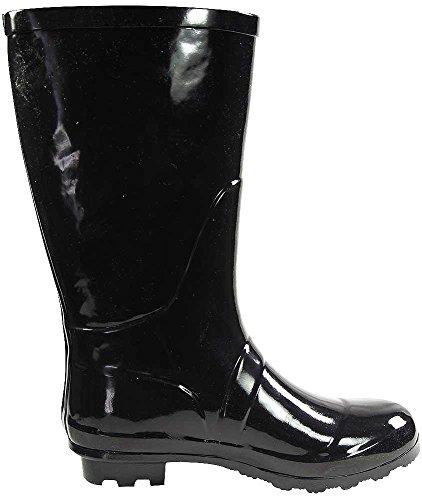 Prints Waterproof calf Solids Women's Wellie Black Mid Glossy 14 Norty Rainboots Hurricane amp; And Matte FaZUWqxYxw