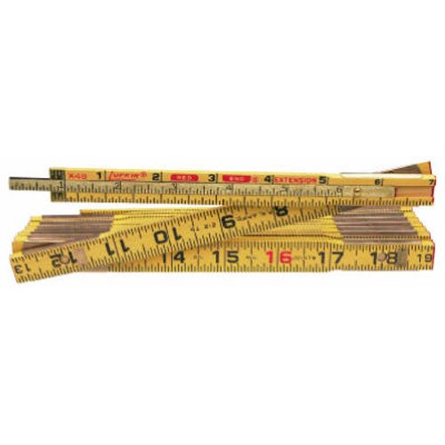 Lufkin X48N 8 x 58 Wood Rule Red End with 6 Slide Rule Extension