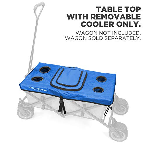 tributor Folding Wagon Table Top Cooler Cover - Blue ()