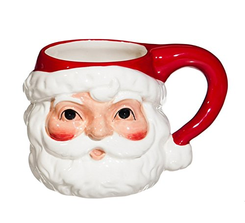 Pitcher Santa Claus - Cypress Home Vintage Santa Ceramic Mug, 14 ounces