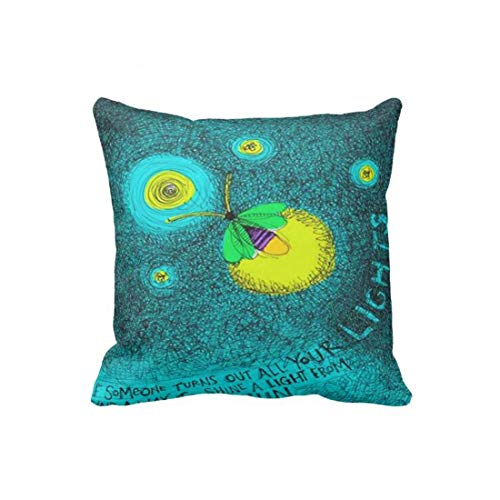 Mag21Bruno Fantasy Night-Glowing Insect Firefly Pillowcase 18x18 in