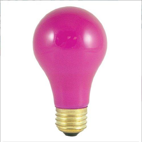 Bulbrite 106660 - 12PK - 60W - A19 - Medium Base - 120V - 2700K - 1,500Hrs - Ceramic Pink - Incandescent Light Bulbs