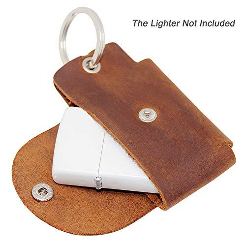 boshiho EDC Fidget Spinner Case Holder, Genunine Leather Protective Pouch Bag for Hand Spinner Toys or Lighter Pouch Case ()