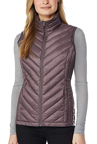 32 DEGREES Womens Packable Vest, Sparrow, Medium