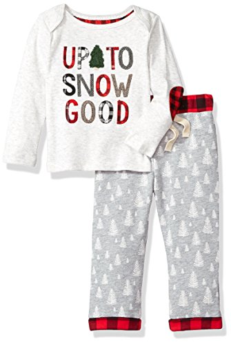 Mud Pie Baby Boys Christmas Holiday Long Sleeve Two Piece Play Set