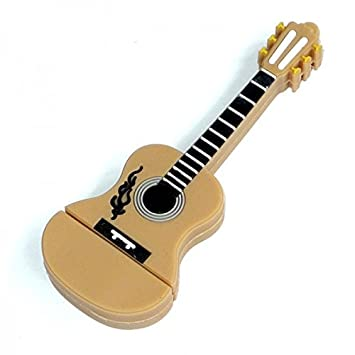 Guitarra 32 GB - Guitar - Memoria Almacenamiento de Datos - USB Flash Pen Drive Memory Stick - Beige Marrón: Amazon.es: Informática