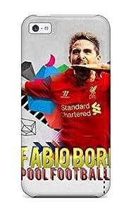 linJUN FENGAnti-scratch And Shatterproof Fabio Borini Phone Case For Iphone 5c/ High Quality Tpu Case