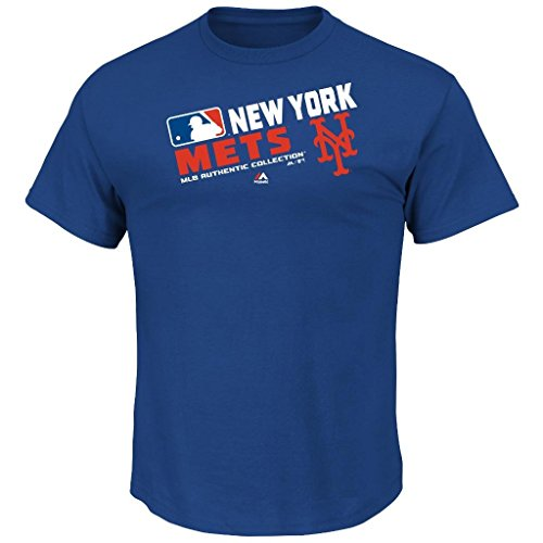 Youth MLB Authentic Collection Team Choice T-Shirt (Youth Xlarge 18/20, New York Mets)