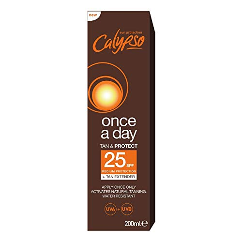 Calypso Once A Day Tan & Protect SPF25-200 ml (Best Once A Day Sunscreen)