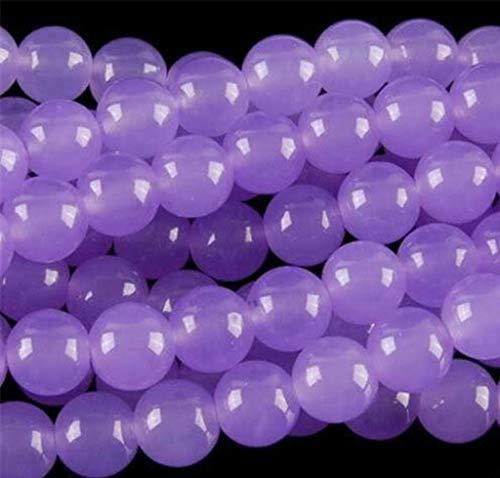 FidgetFidget 8mm Purple Alexandrite Round Gemstone Loose Beads 15